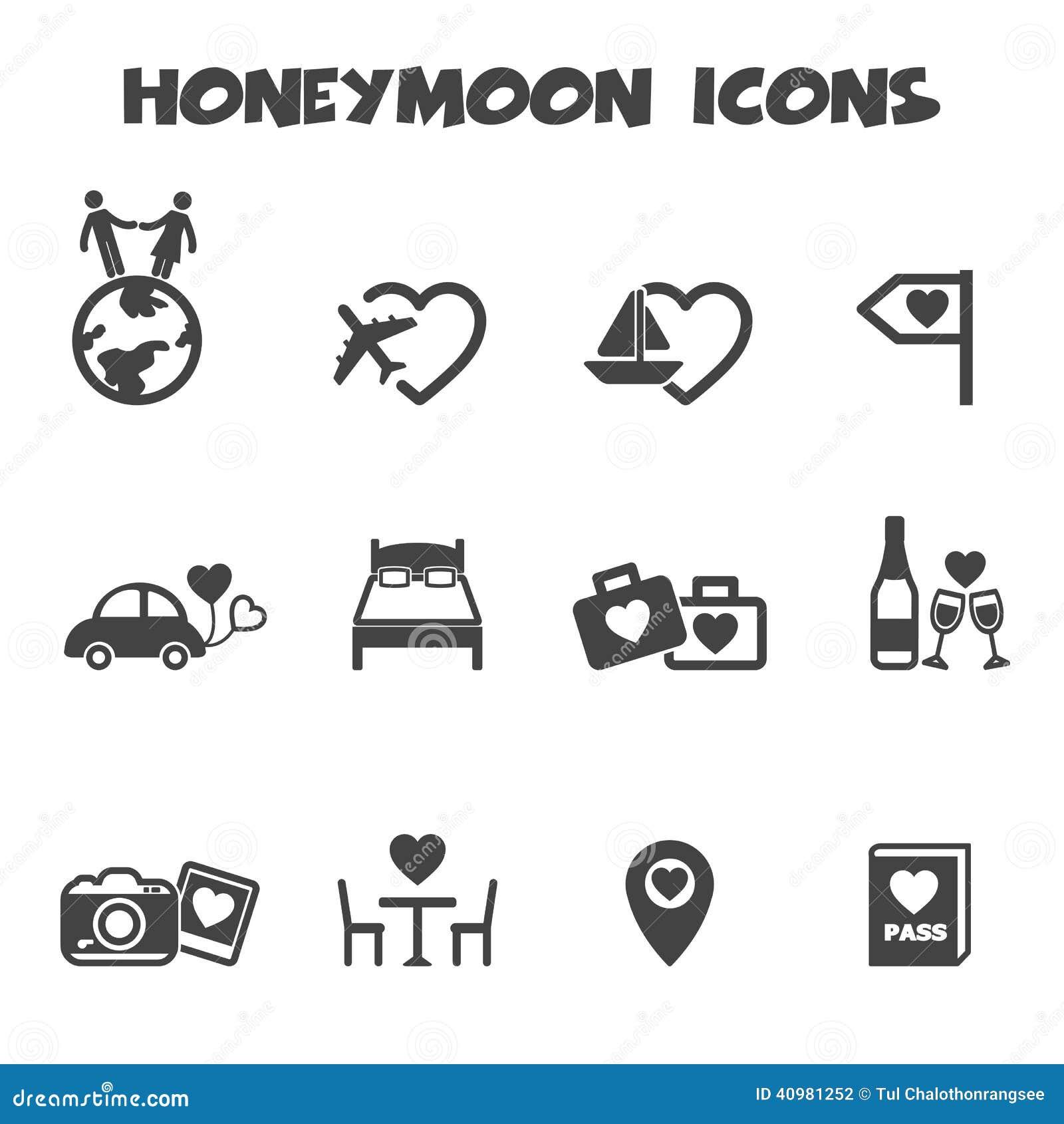 Honeymoon icons