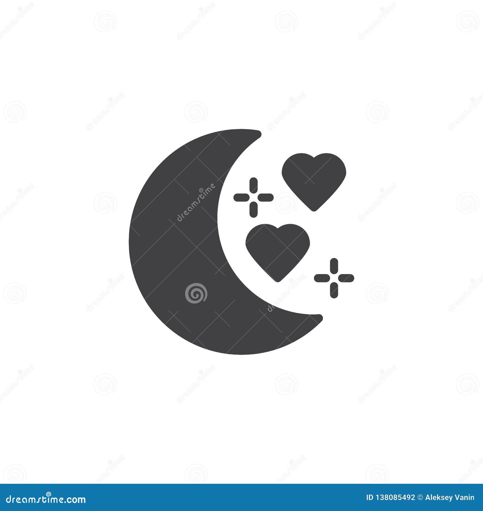 Honeymoon vector icon