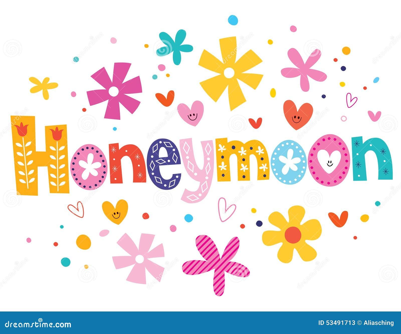 Download Honeymoon Vector Lettering Decorative Type Stock