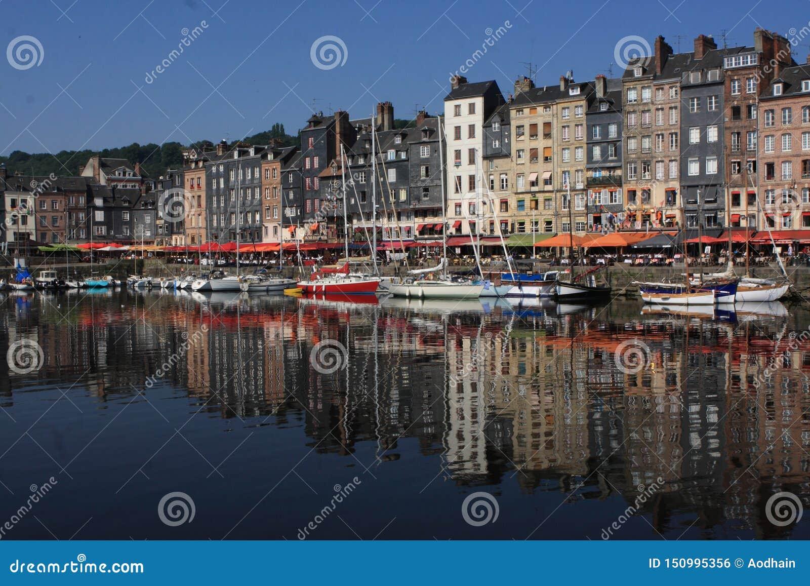 Honfleurhaven, Normandië, Frankrijk