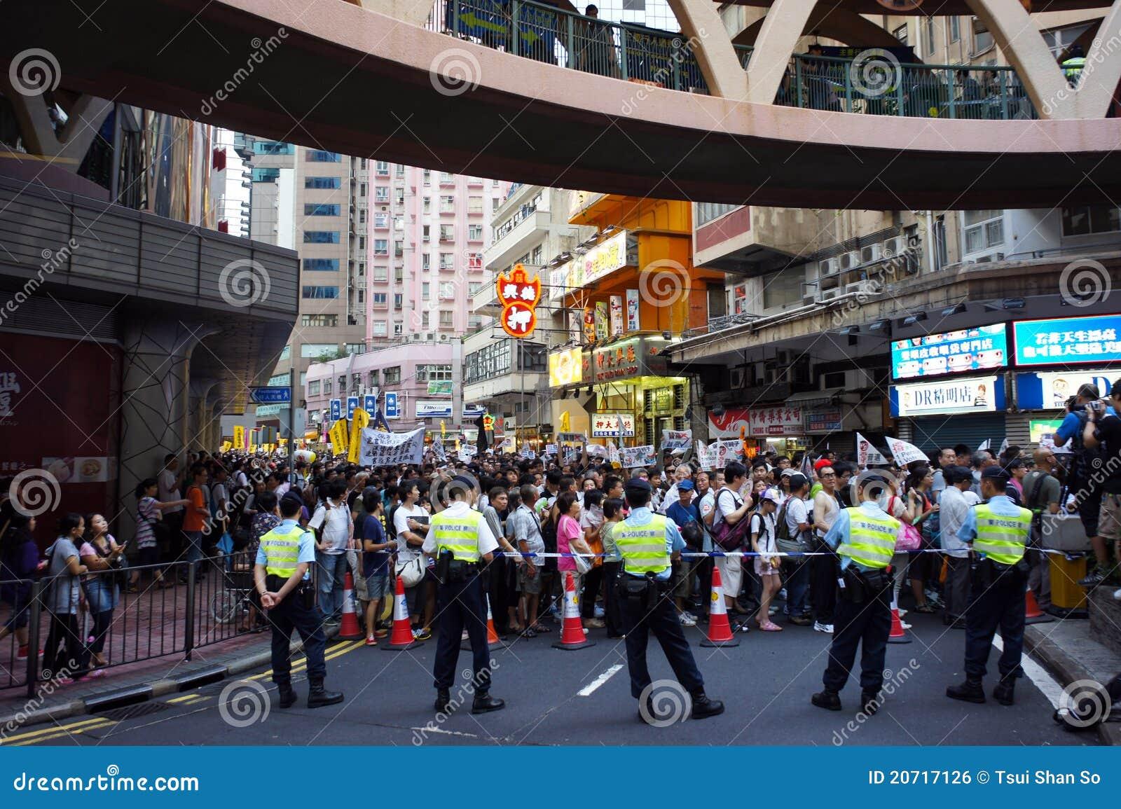 Hong Kong 1 July Marches edito...