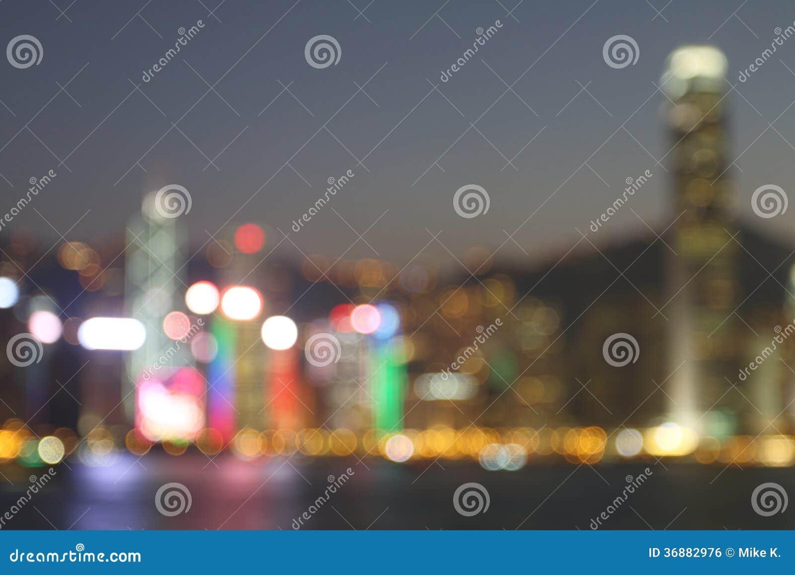 Download Hong Kong alla notte fotografia stock. Immagine di downtown - 36882976