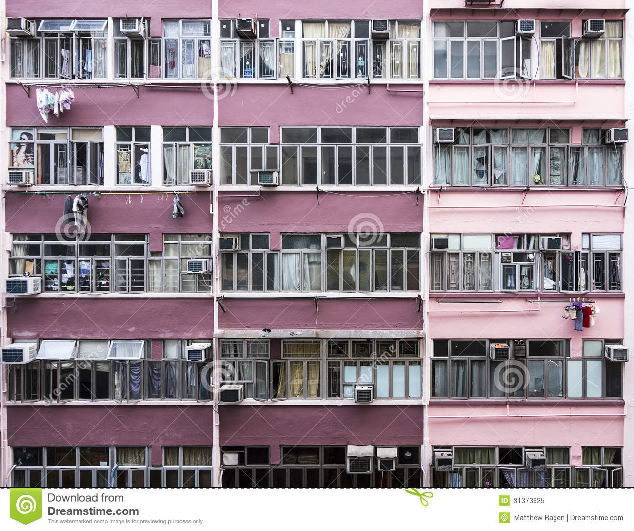 Hong Kong Apartments: Hong Kong Apartments Royalty Free Stock Photo
