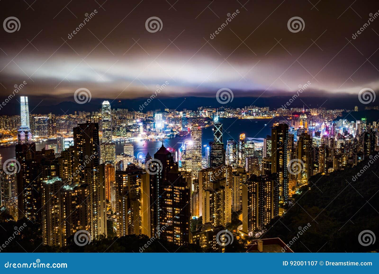 Hong Kong bis zum Nacht