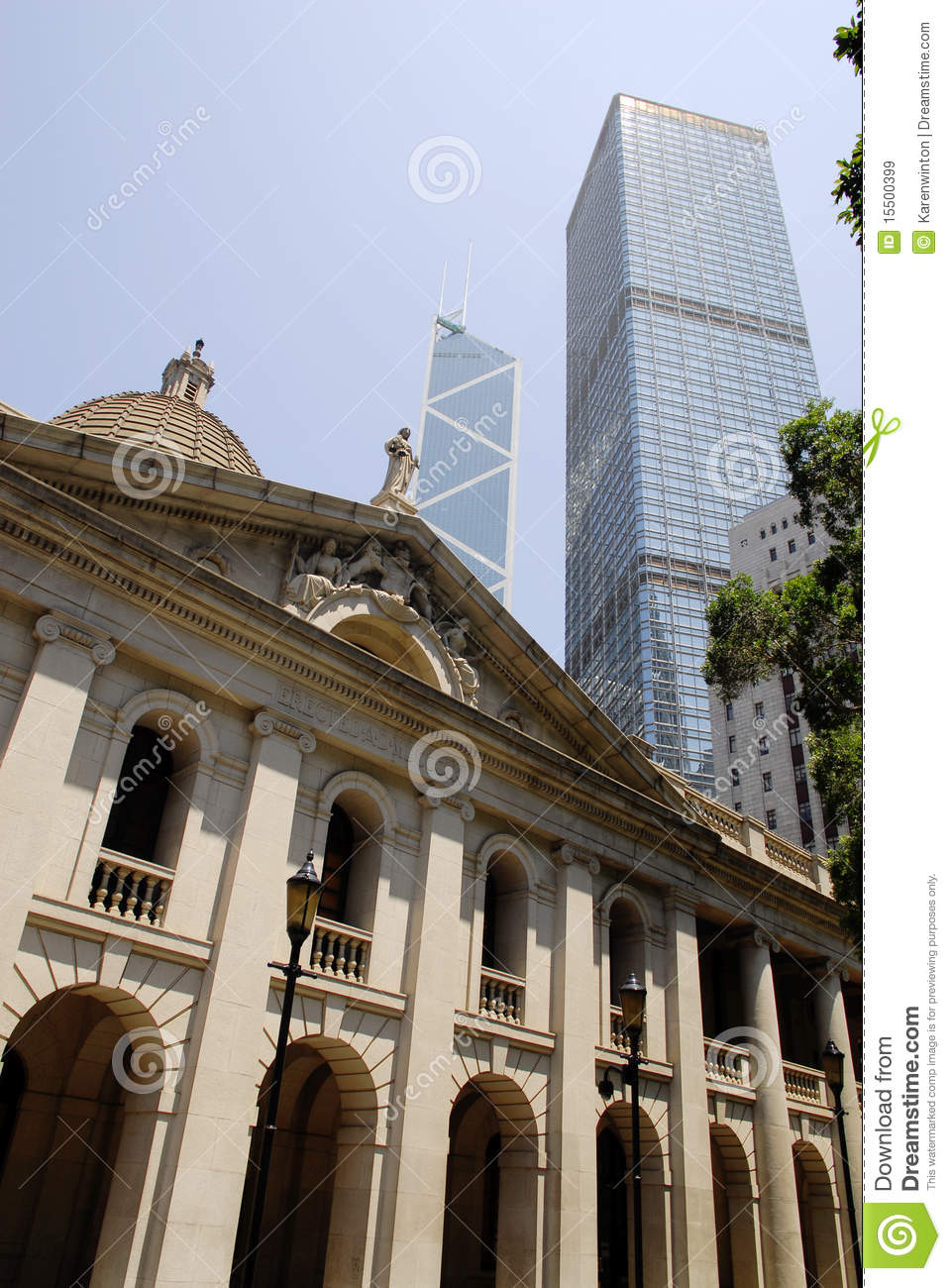 Hong Kong Central Business District Royalty Free Stock ...