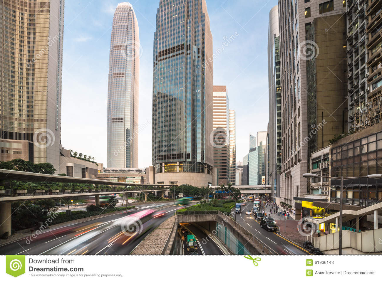 Hong Kong Central Business District Stock Image - Image of ...