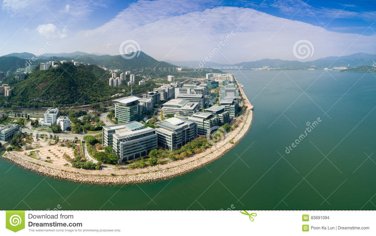 Hong Kong, China, 7 January 2017. Aerial view over the Science Park. Government to promote scientific research personnel stationed