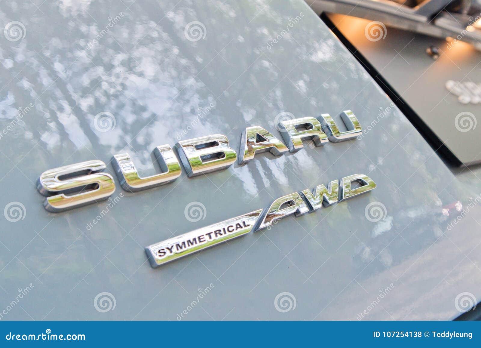 Subaru Xv 2017 Awd Logo Editorial Stock Photo Image Of Auto 107254138