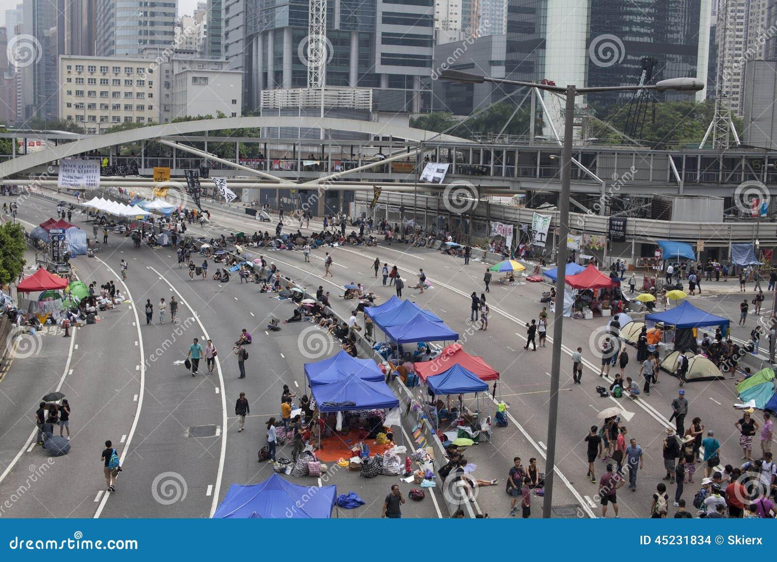 Hong Kong, China Oct. 4, 2014, Occupy Central, Protestors ...