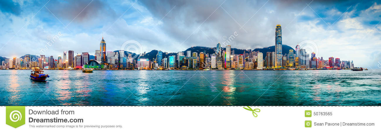 Hong Kong China Skyline