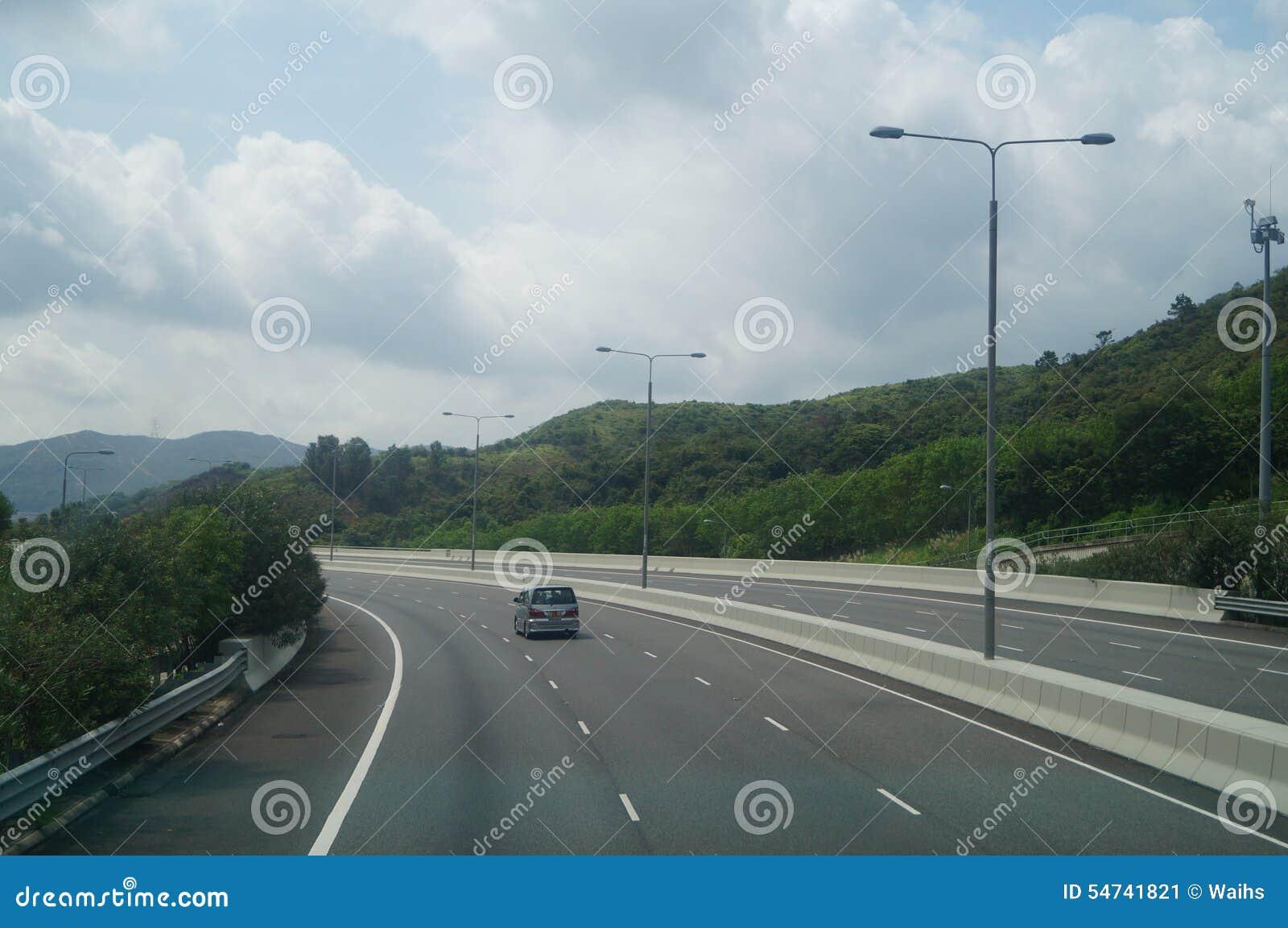 Hong Kong, Cina: Traffico stradale