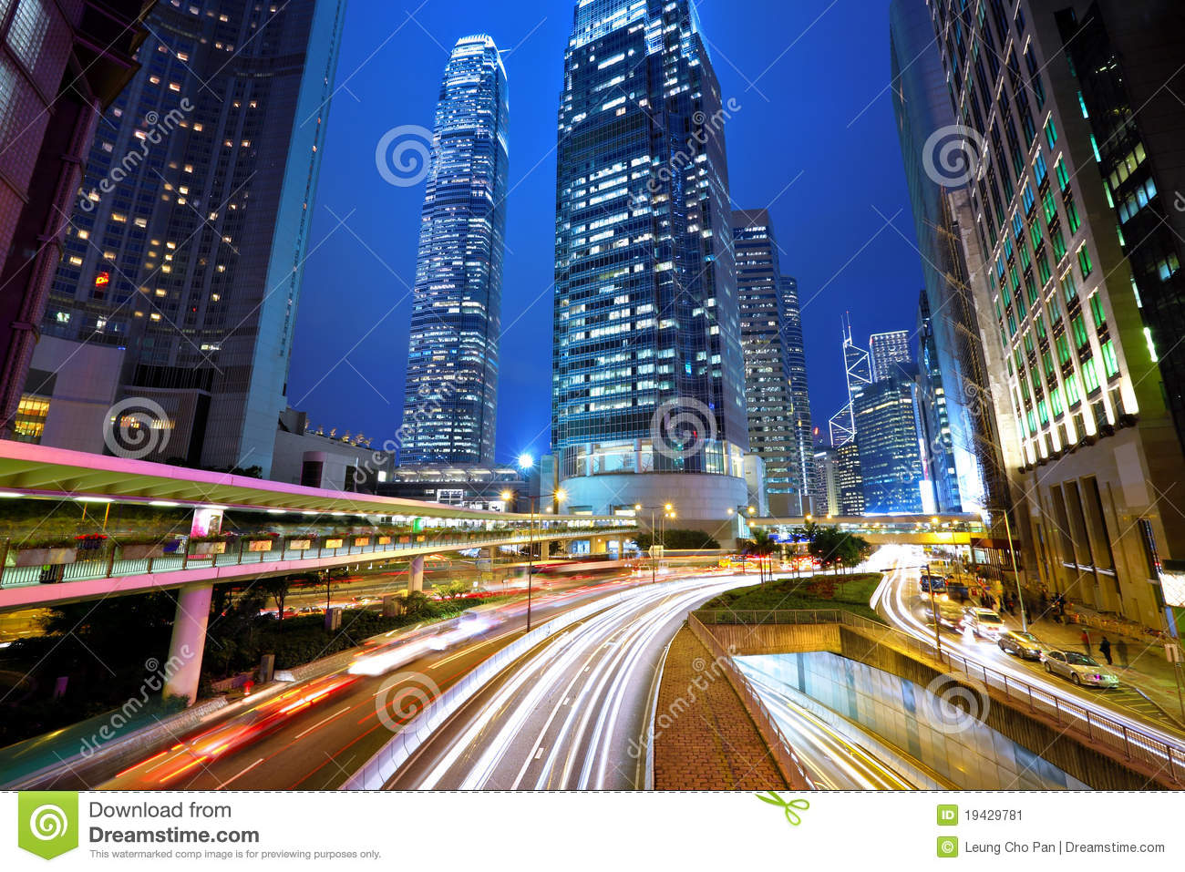 Hong Kong City At Night Stock Image - Image: 19429781