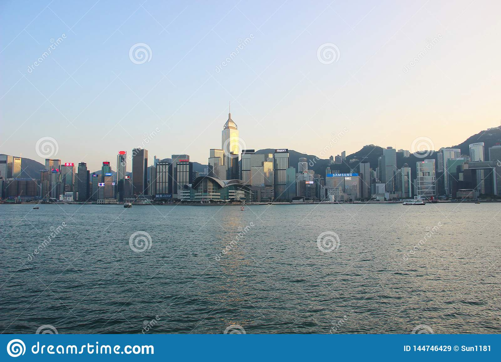 Hong Kong city, quay
