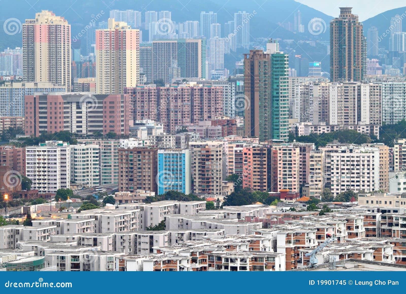 Hong Kong Crowded Buildings Stock Image Image 19901745