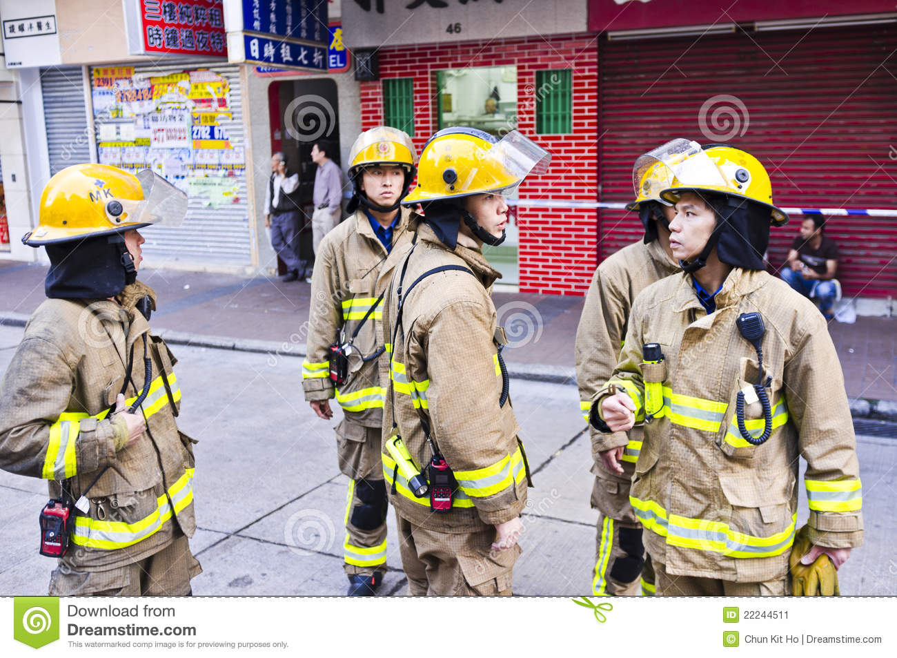 Hong Kong Firefighter Editorial Photo - Image: 22244511