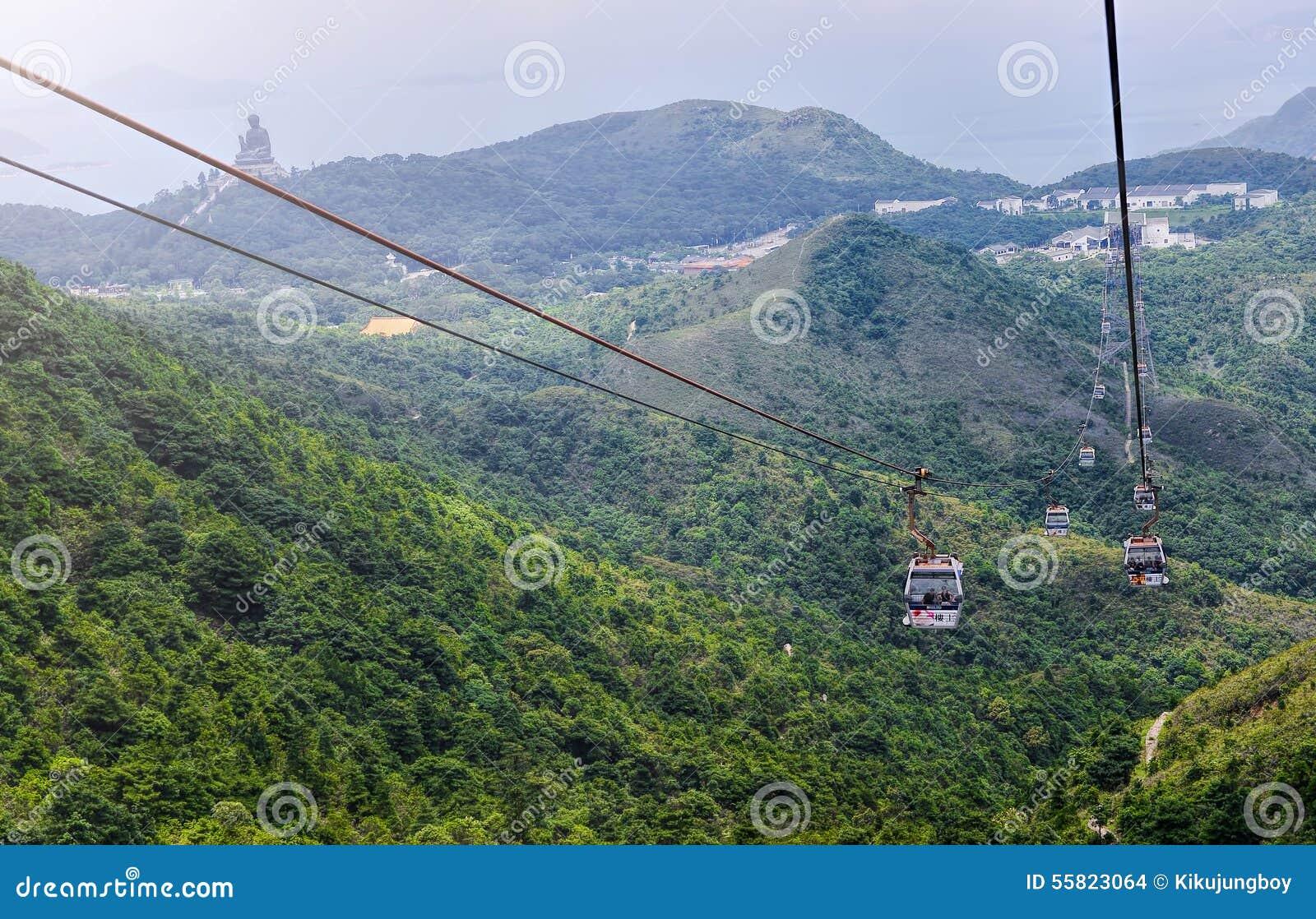 HONG KONG, il 9 giugno, rumore metallico 360 di Ngong è un progetto di turismo su Lanta