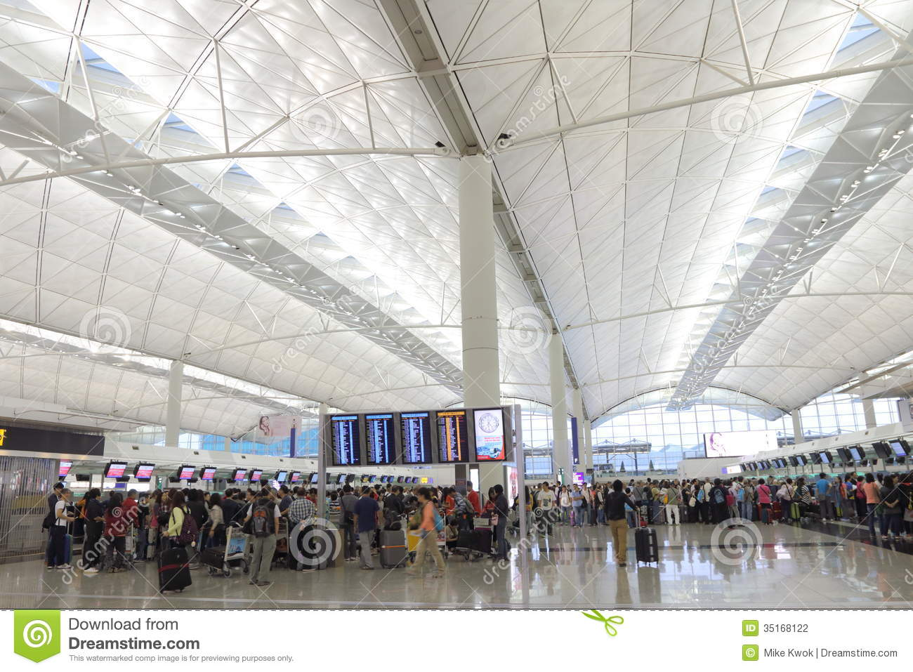 Hong Kong Int'l Airport Editorial Photography - Image ...
