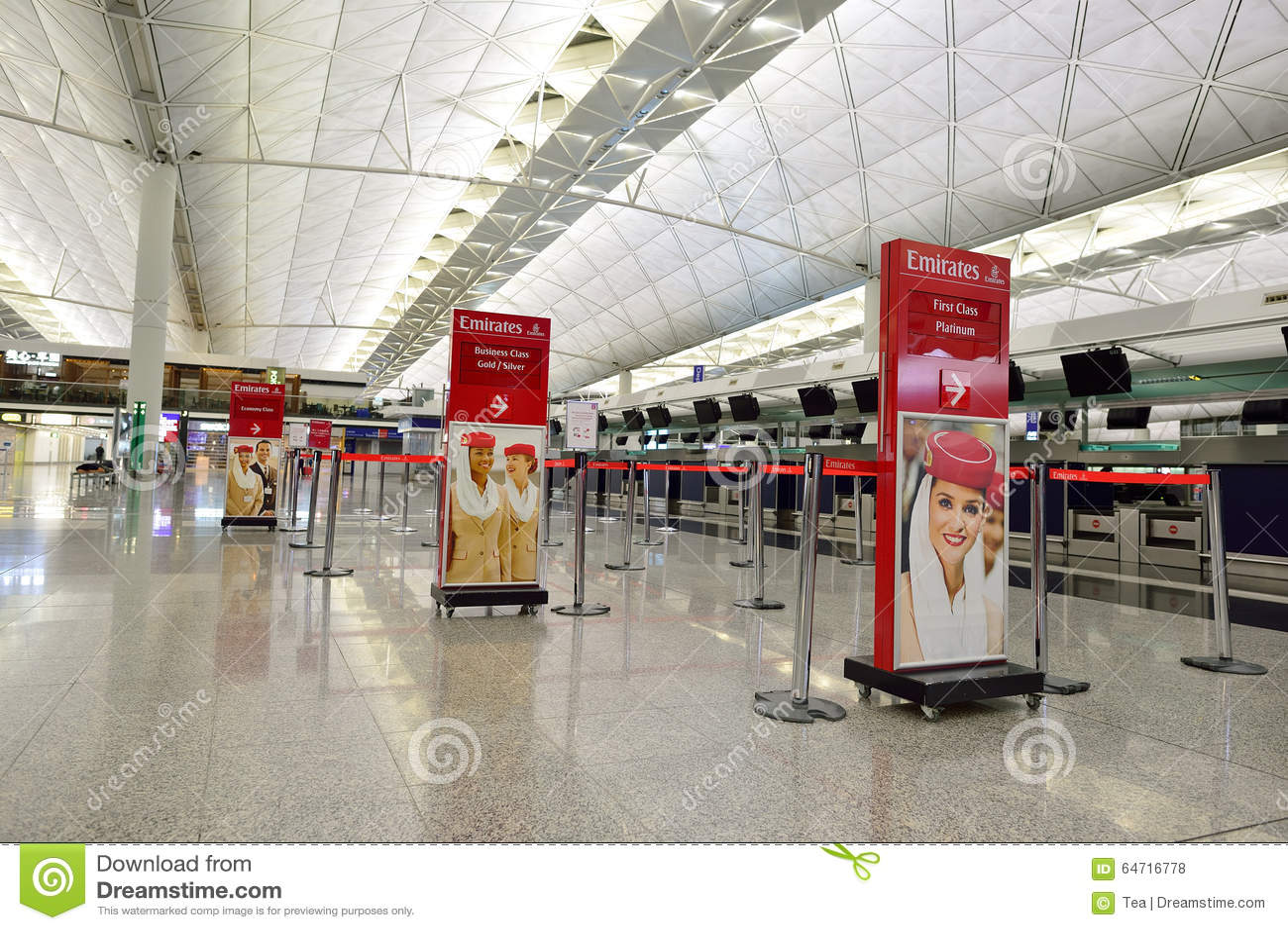 Hong kong international airport interior editorial stock for International decor uae