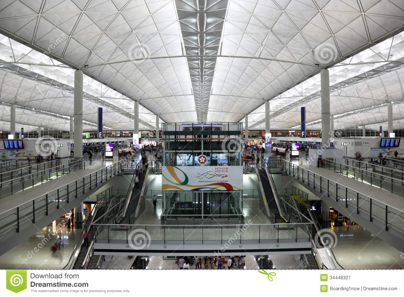 Hong Kong International Airport Terminal 1 Editorial ...