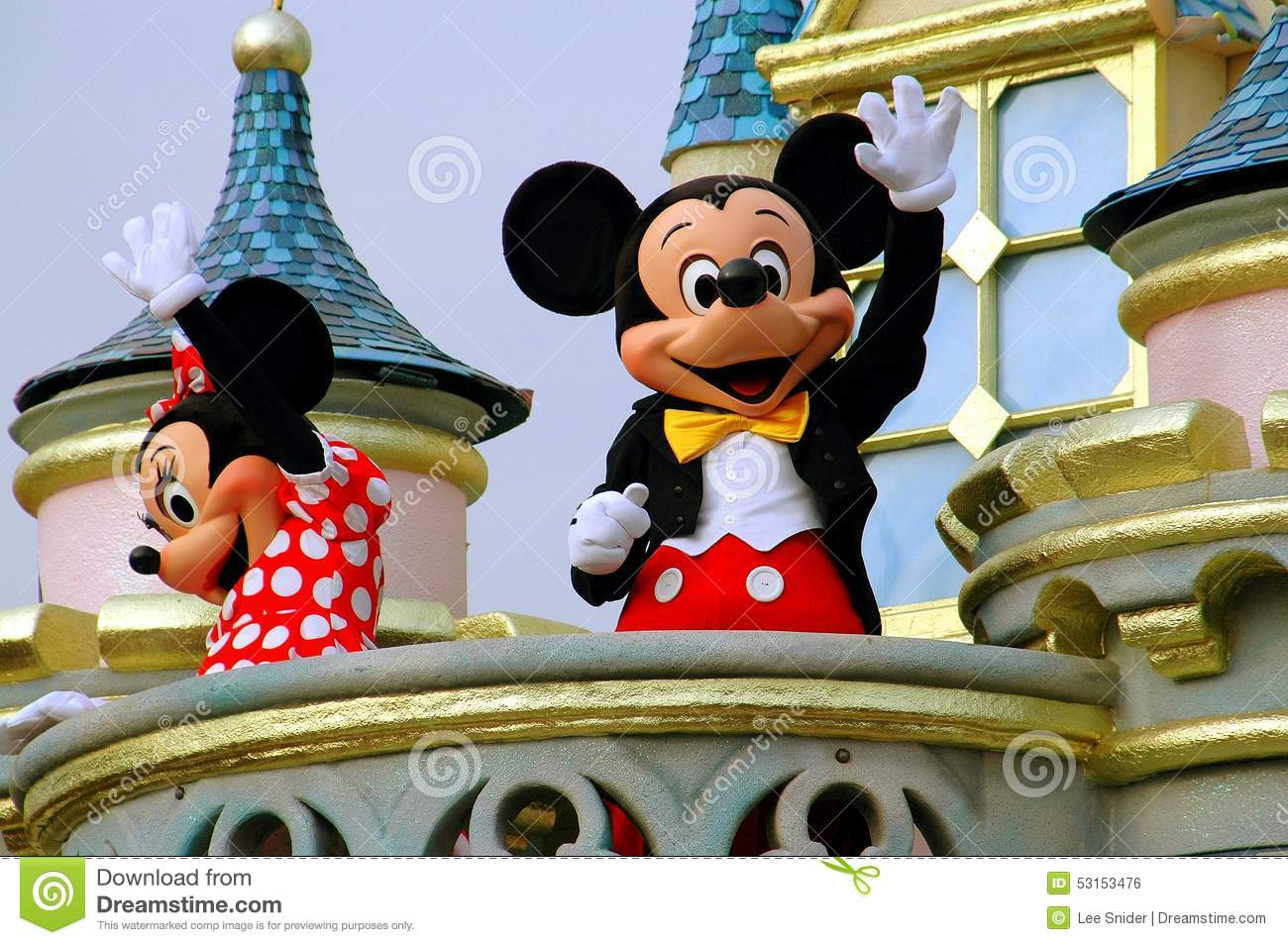 Hong Kong Kina: Mickey och Minnie Mouse på Disneyland