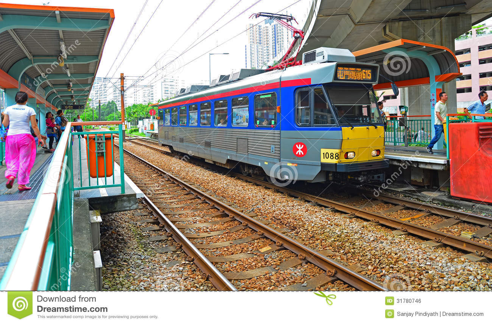 Hong Kong Light Rail Train Editorial Photo Image 31780746