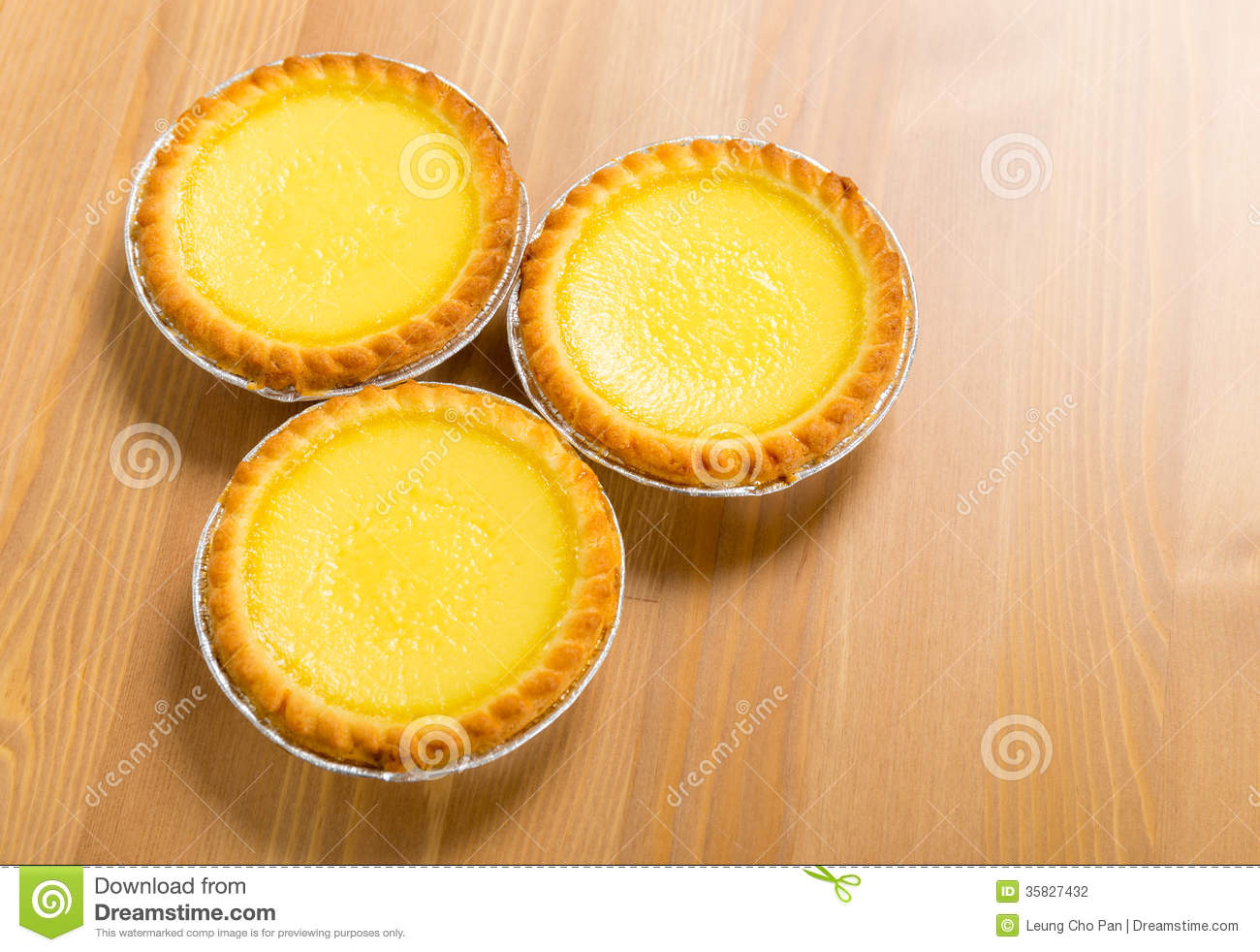 Hong Kong Local Food Egg Tart Stock Photography Image