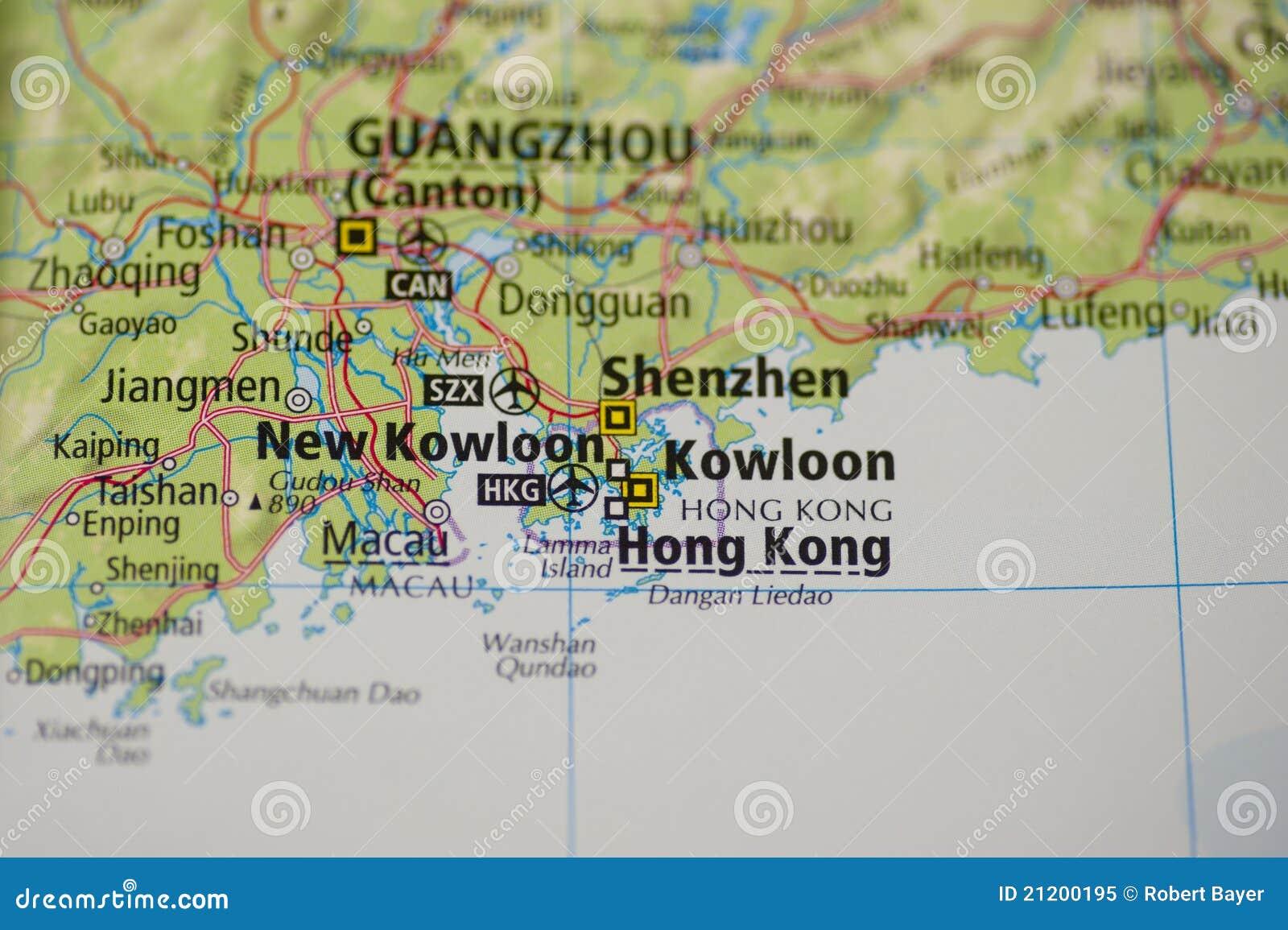 Map Of China And Surrounding Areas.Hong Kong Map Stock Image Image Of Macau Close China 21200195