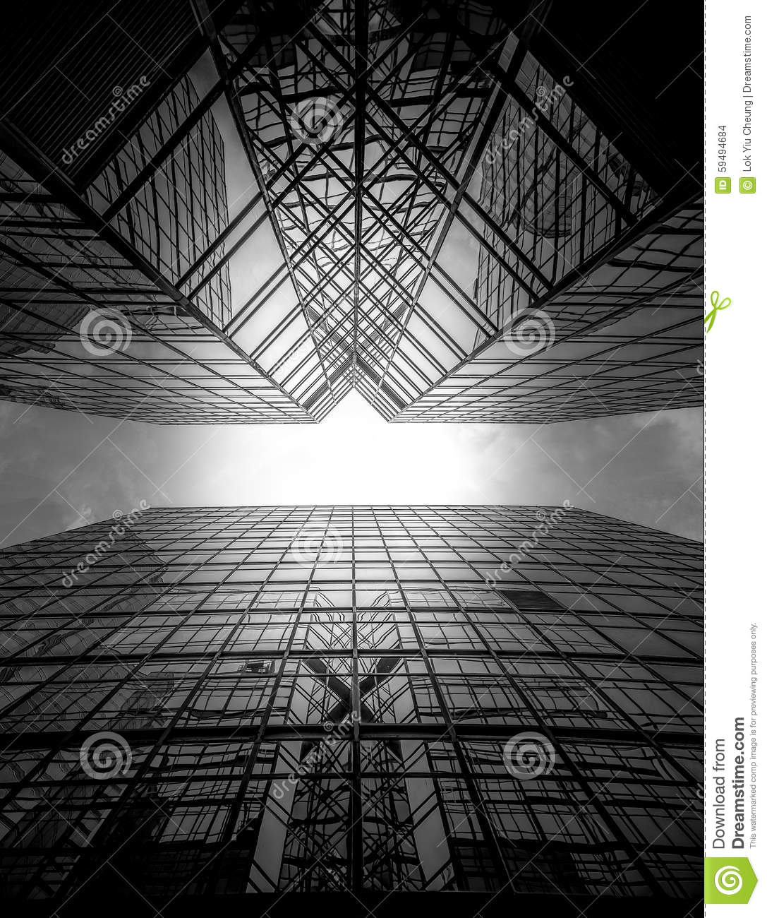 hong kong modern architecture black and white stock photo - image of