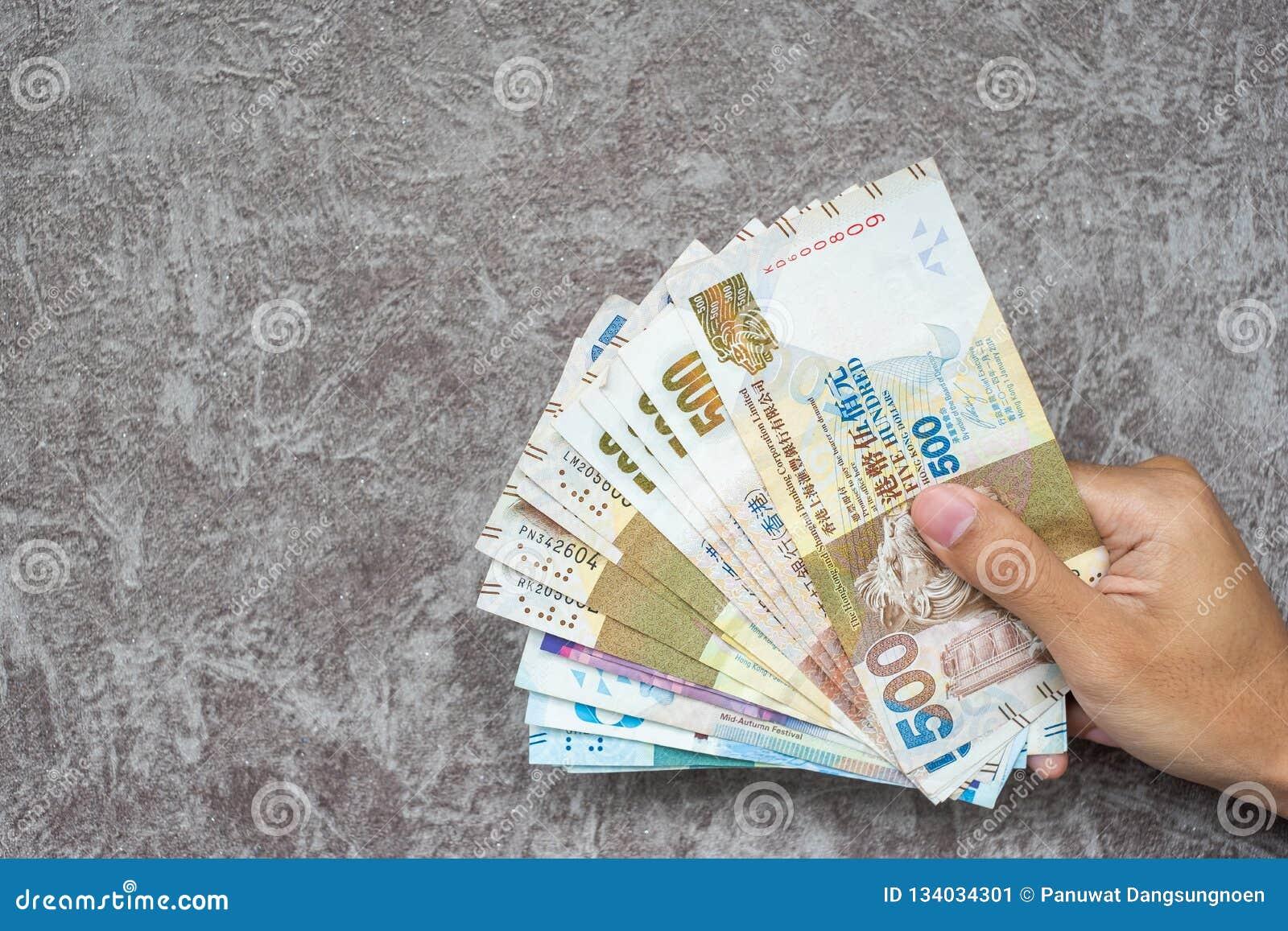 Hong Kong-muntbankbiljetten, de Dollars van HK voor zaken