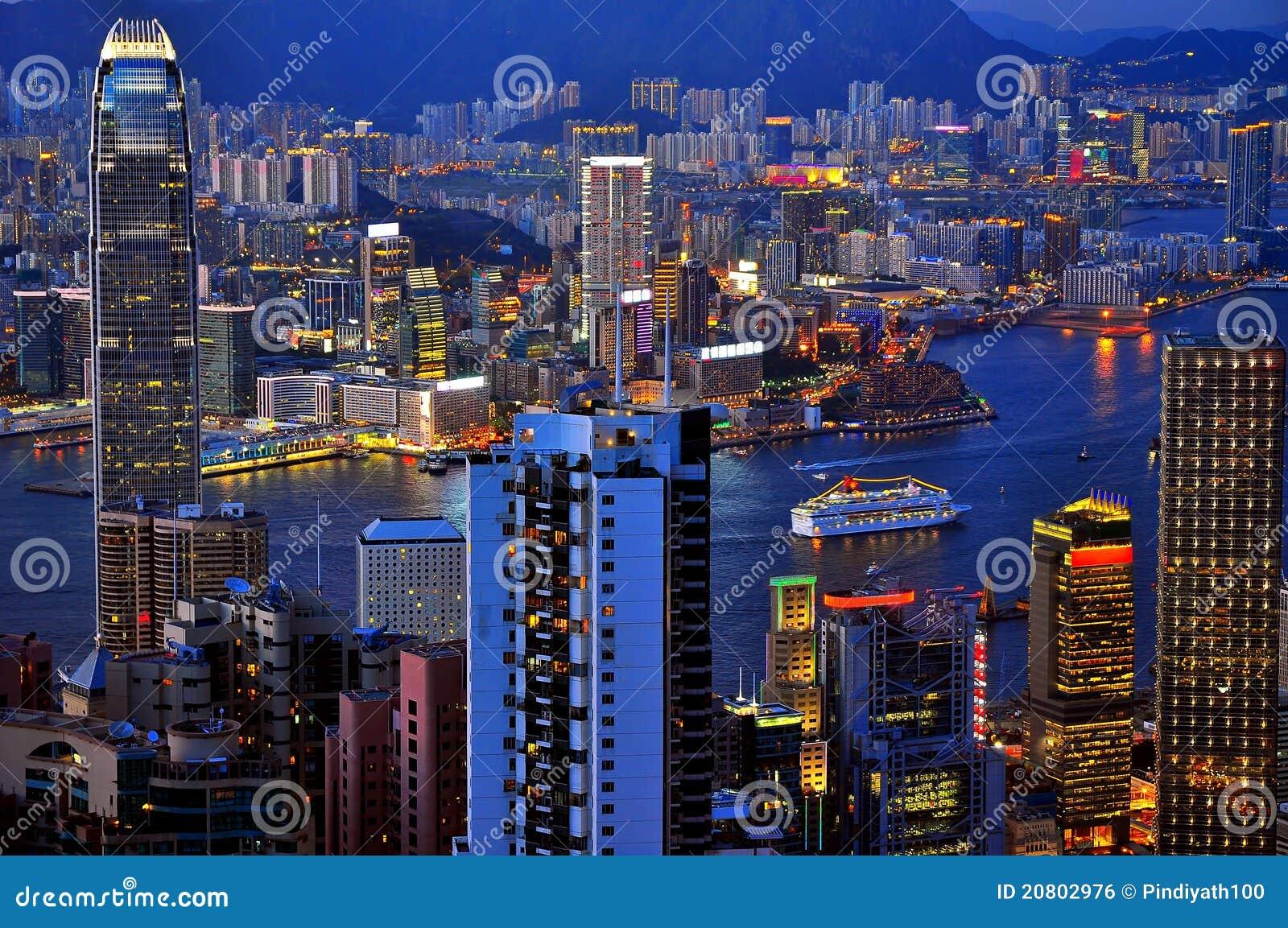 Hong Kong na noite