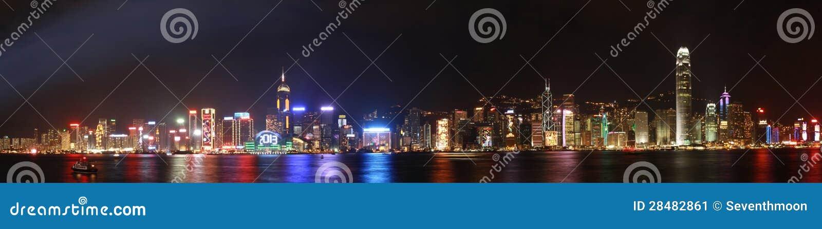 Hong Kong nattpanorama