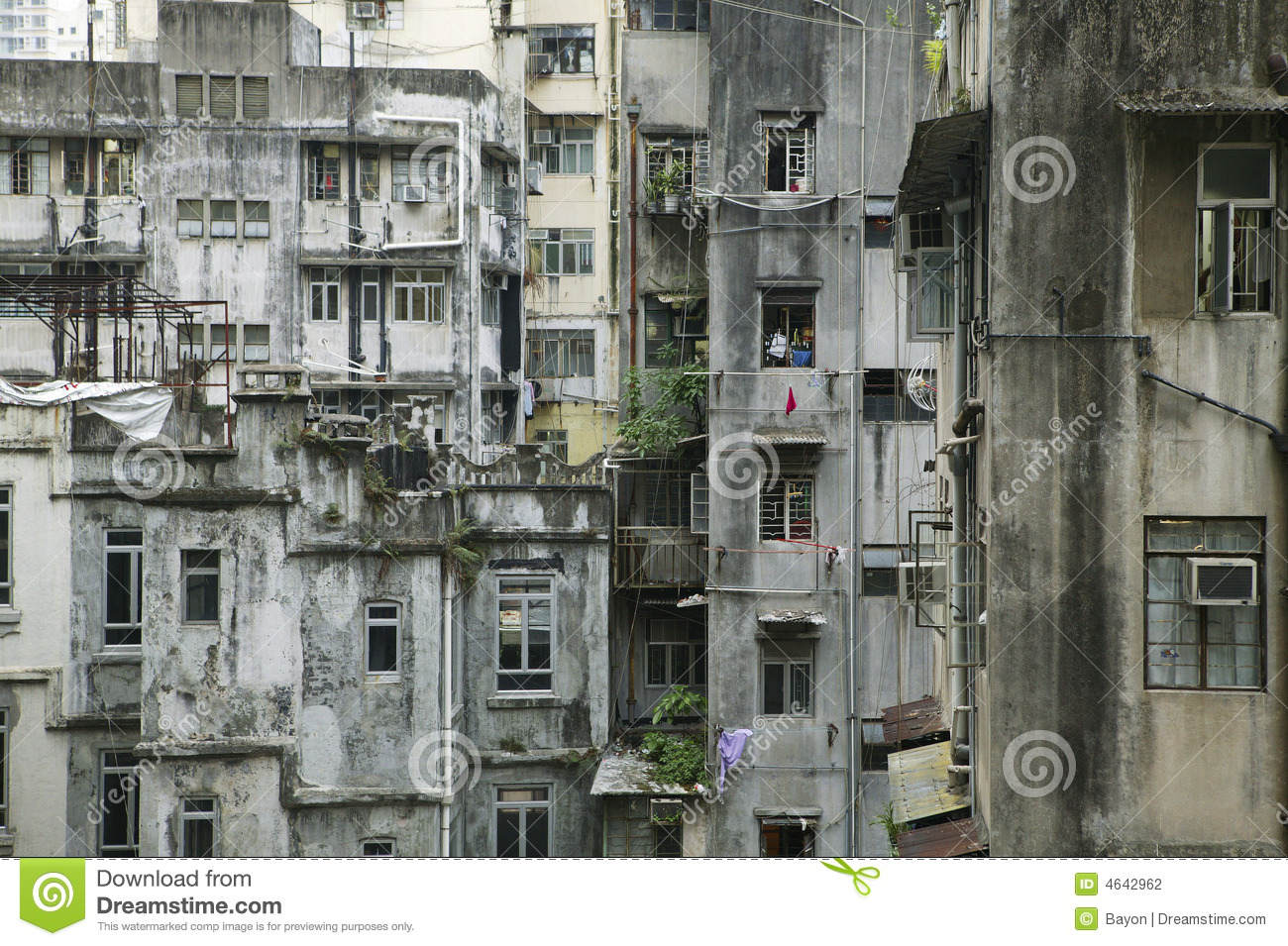 Hong Kong Old Building Stock Photography Image 4642962