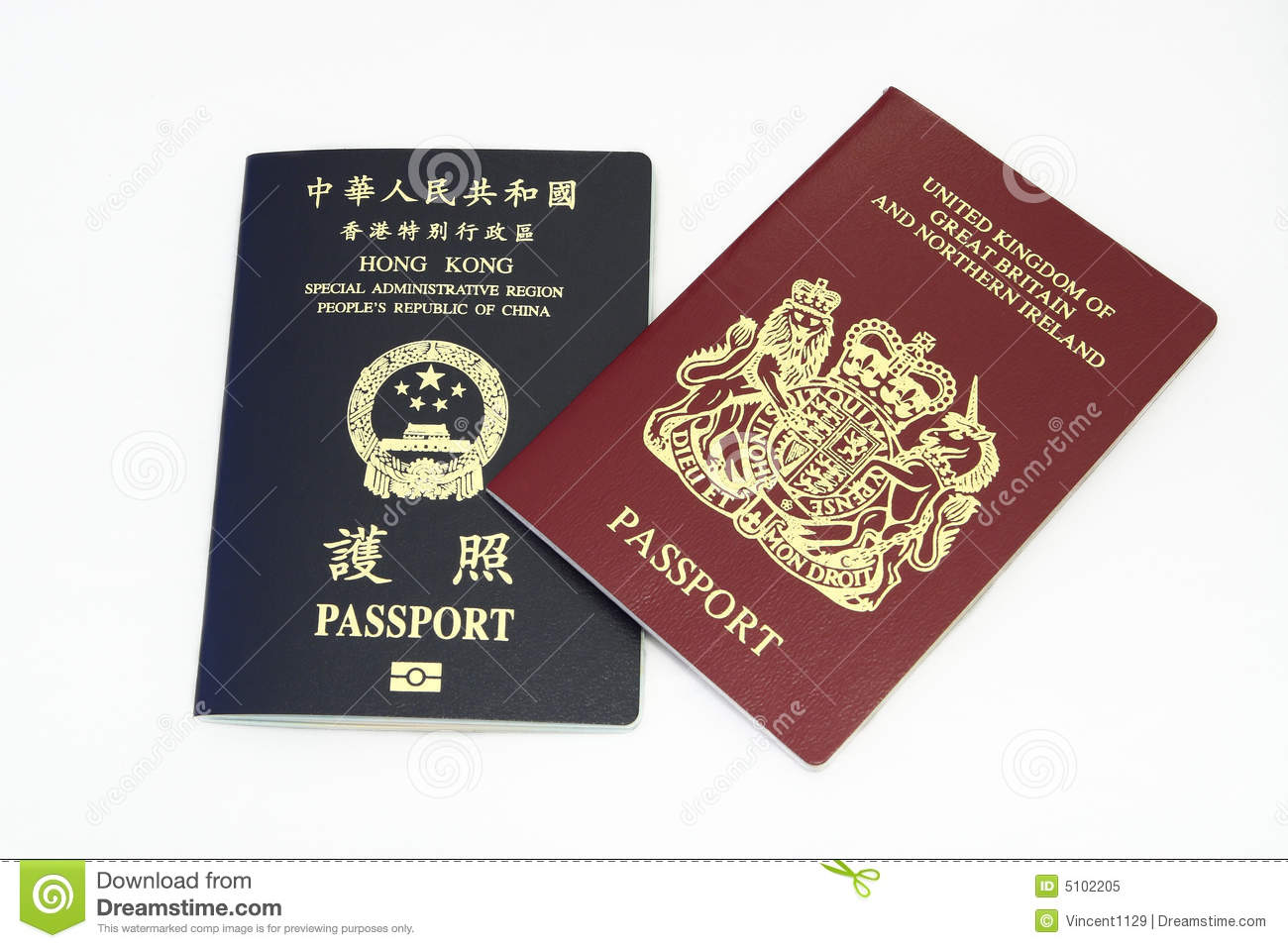 Hong Kong Passport Royalty Free Stock Photo Image 5102205
