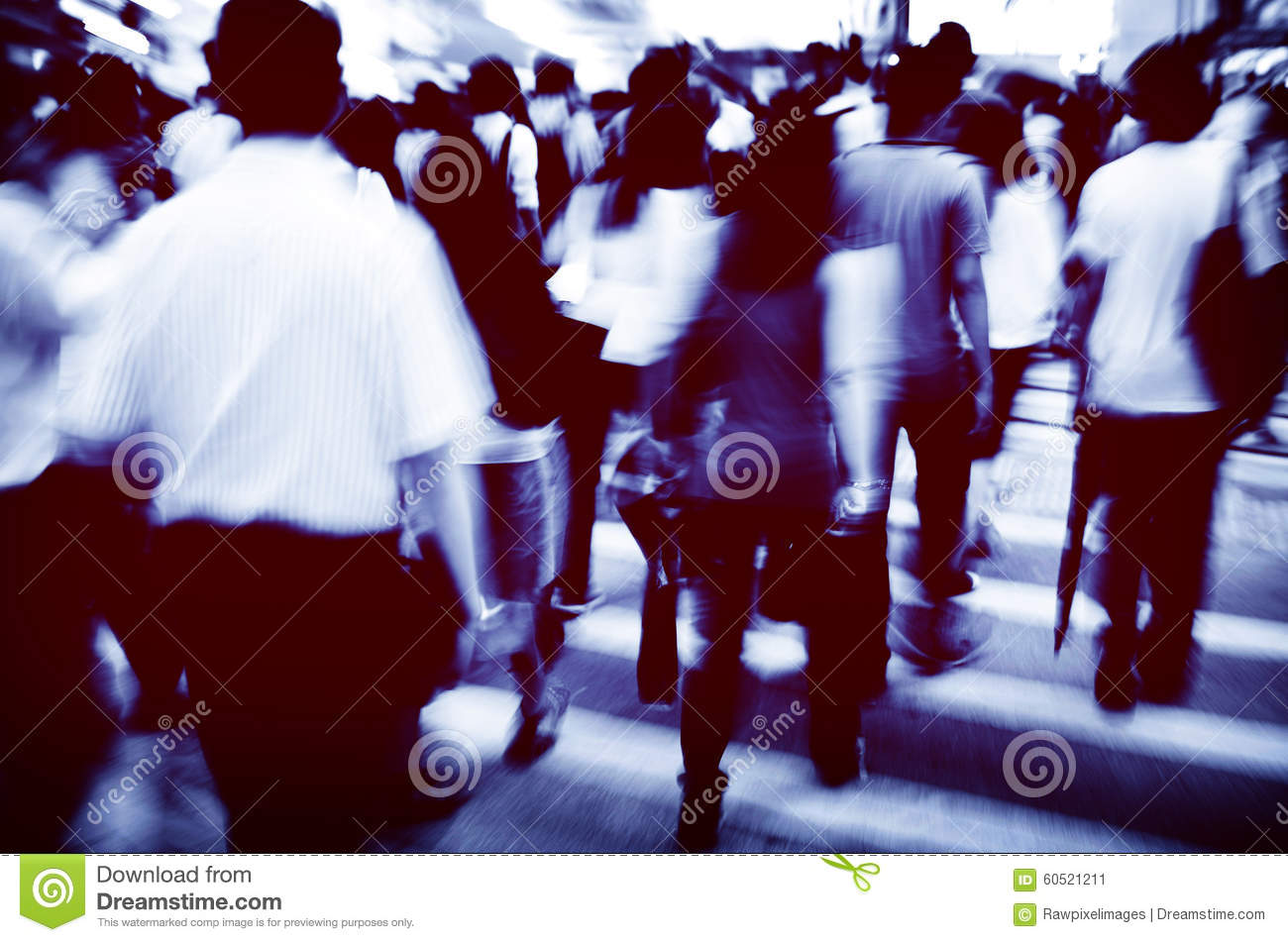 Hong Kong People Commuters City Walking Pedestrian Concept