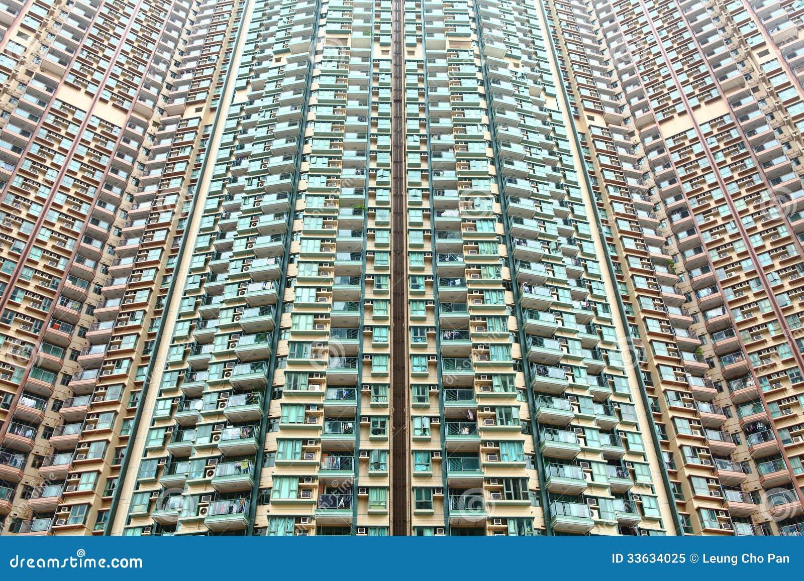 hong kong residential buildings royalty free stock photo