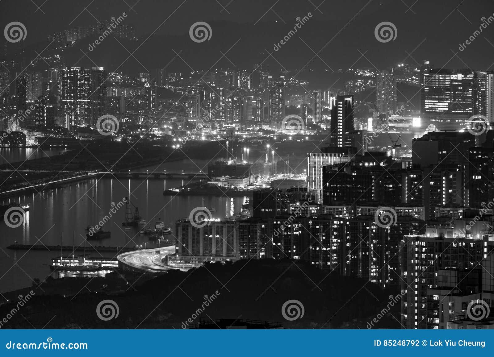 Hong Kong Skyscrapers preto e branco