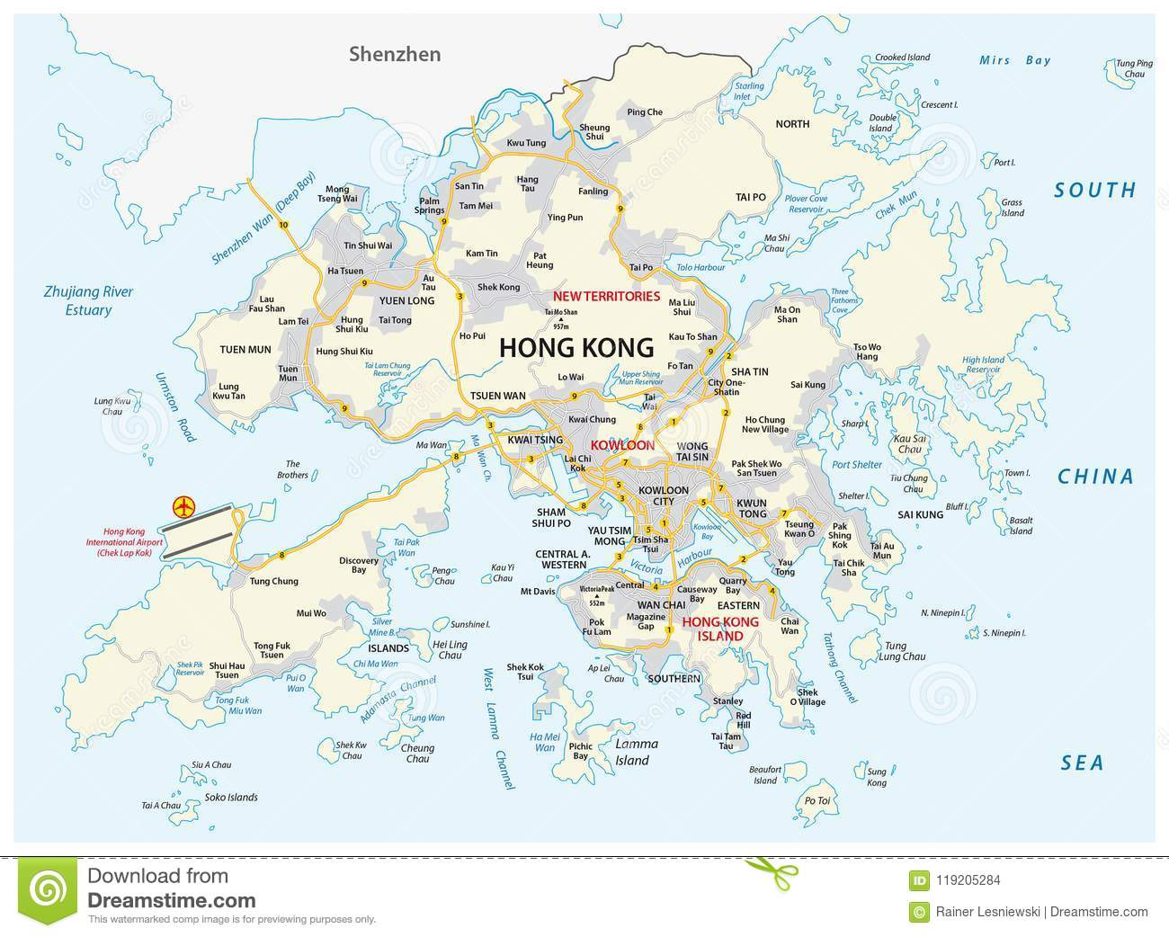 Map Of China Region.Hong Kong Special Administrative Region Of The People S Republic Of
