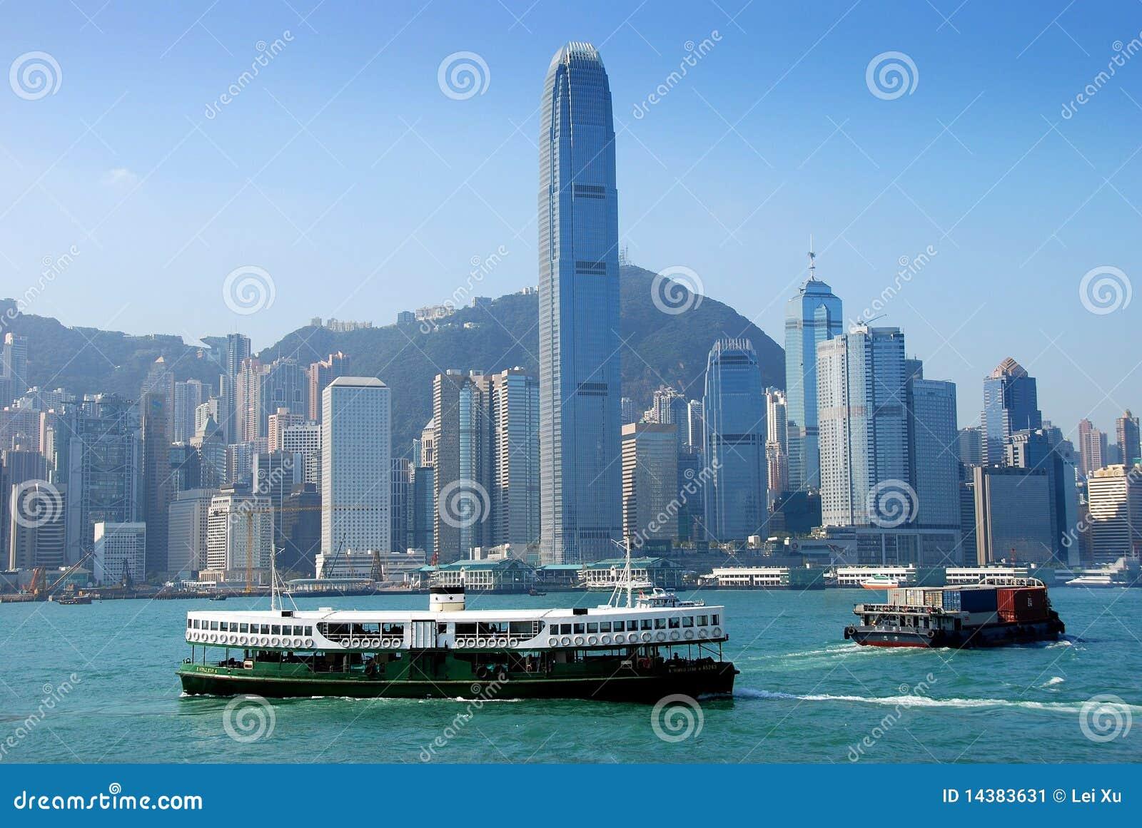 Hong Kong: Stadt-Skyline und Stern-Fähre