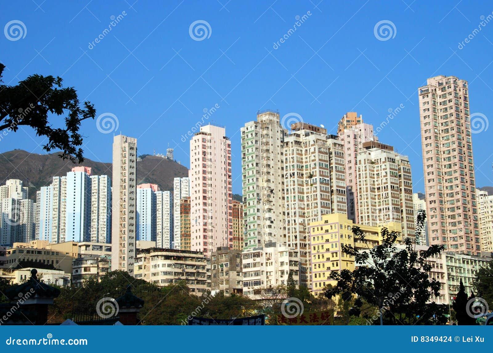 Hong kong torres del apartamento de un edificio alto - Apartamentos en hong kong ...