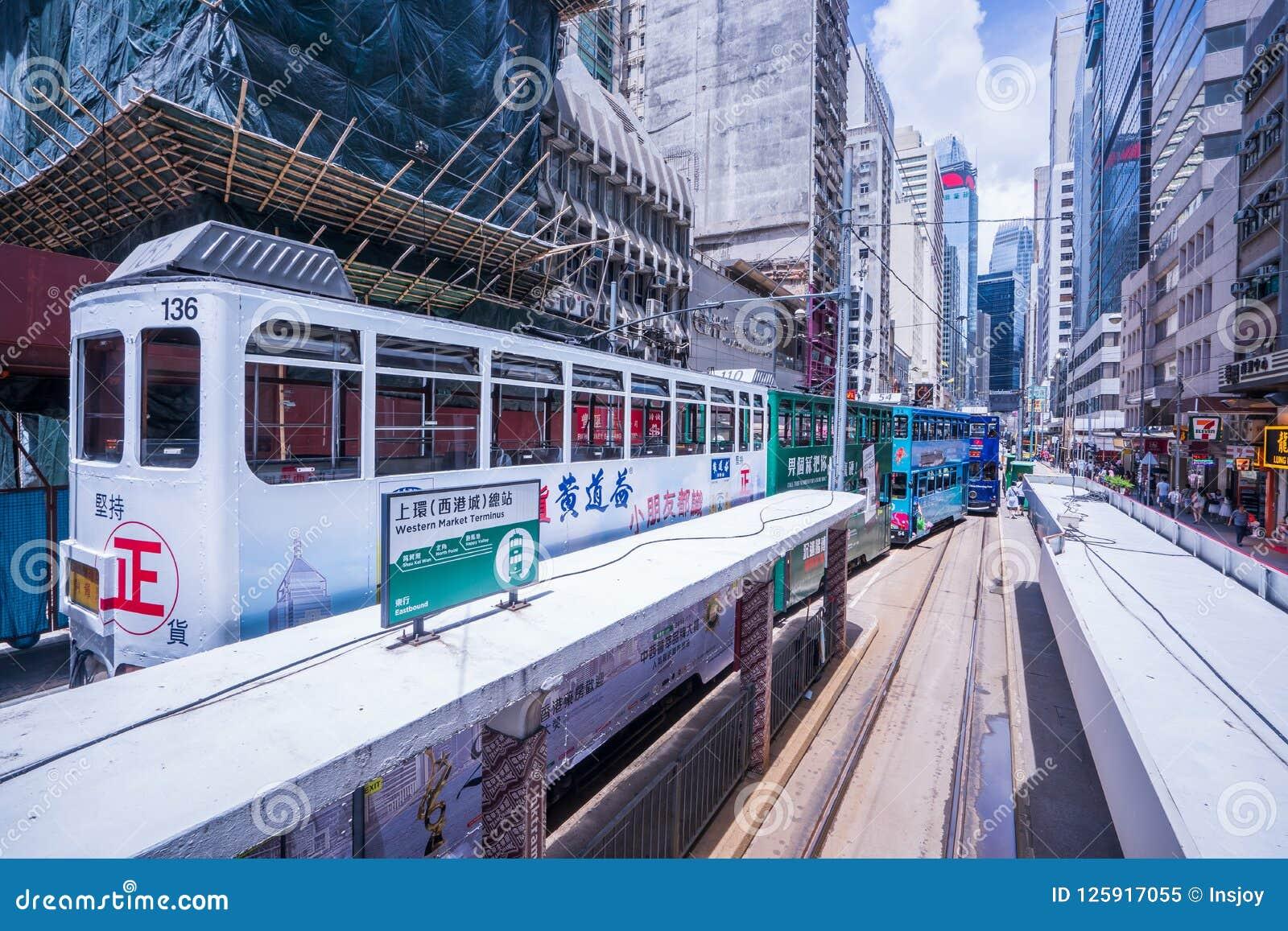 Hong Kong tramwaje, Hong Kong ` s tramwaje biegają w dwa kierunkach -- wschodu i zachodnich pasażery opierają z powrotem jako Hon