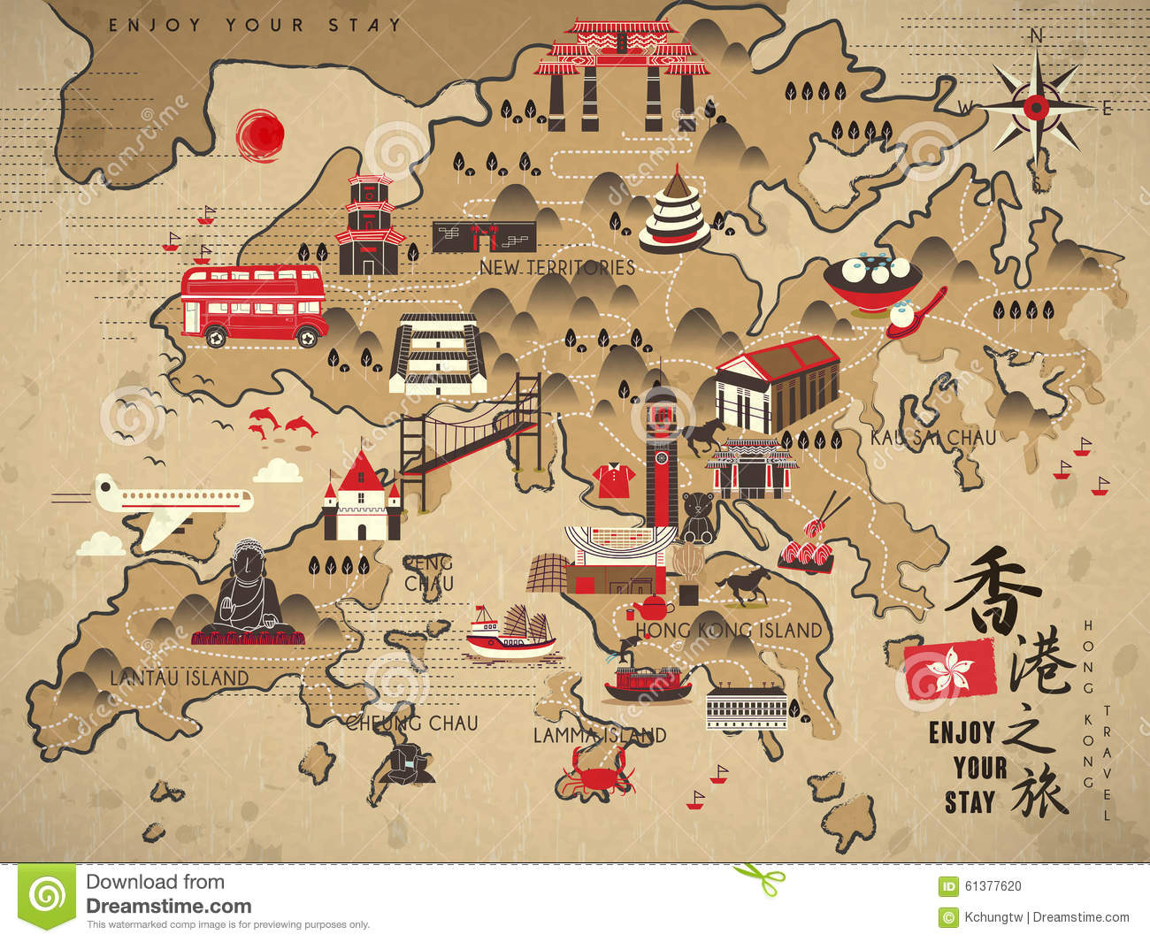 Travel Map Hong Kong – Hong Kong Map For Tourist