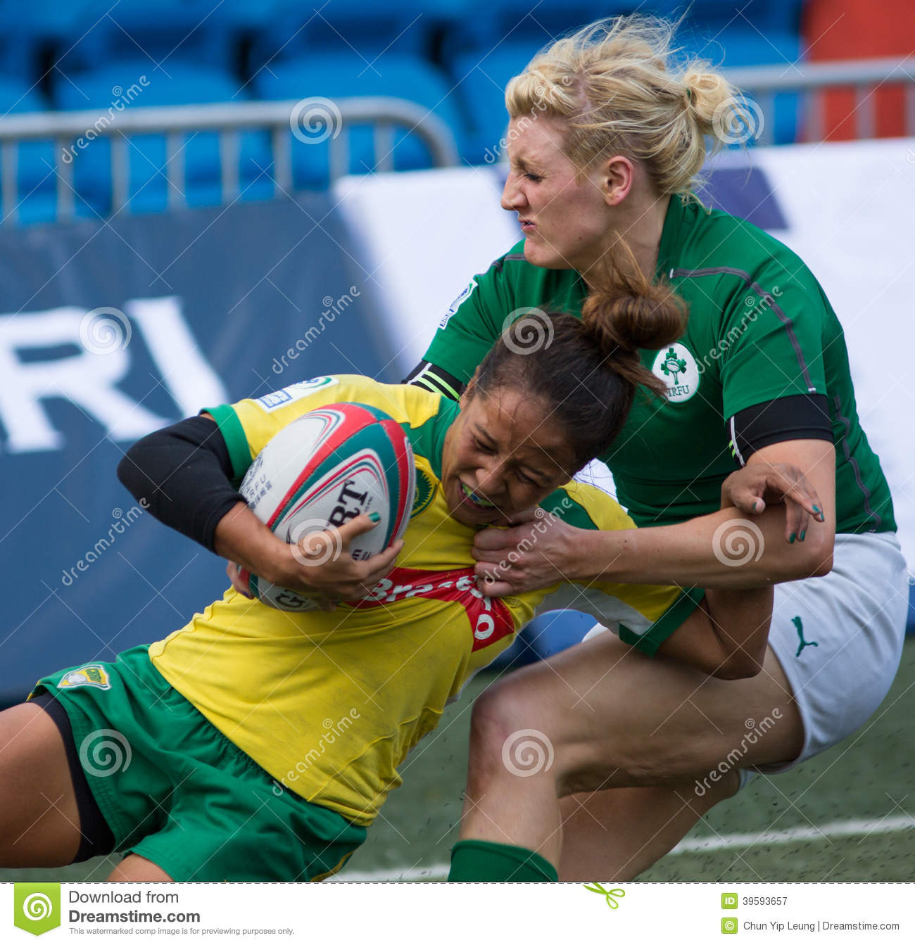 Who And Where Are Brazil Playing This Month And Who Is In: Hong Kong Womens Sevens 2014 Editorial Photography