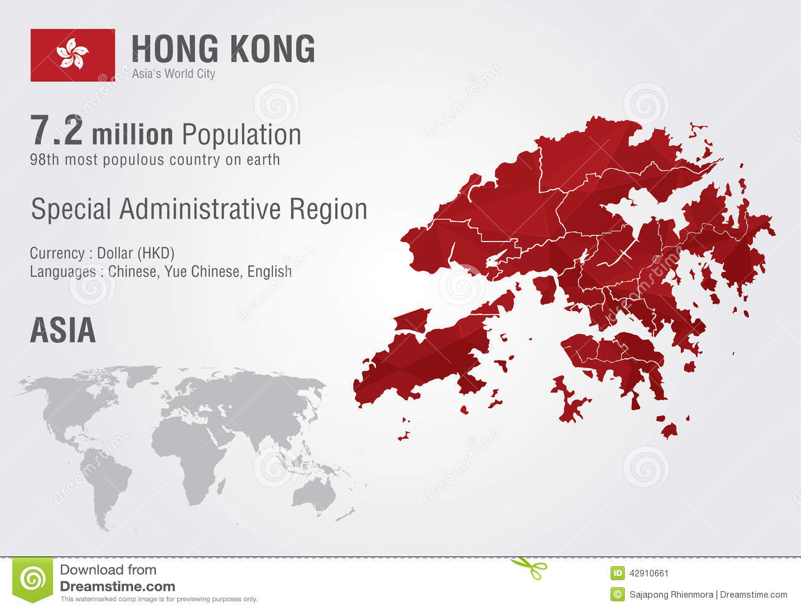 Hong kong world map with a pixel diamond texture stock image hong kong world map with a pixel diamond texture gumiabroncs Gallery