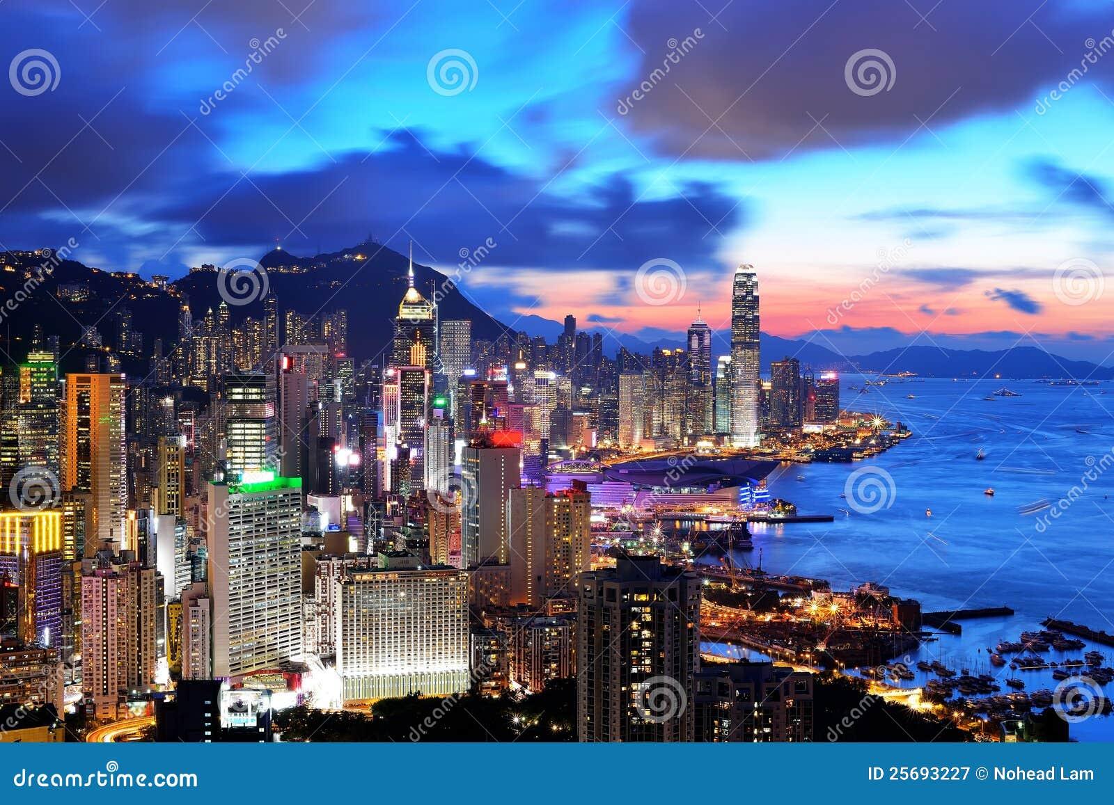 Hong- Kongsonnenuntergang