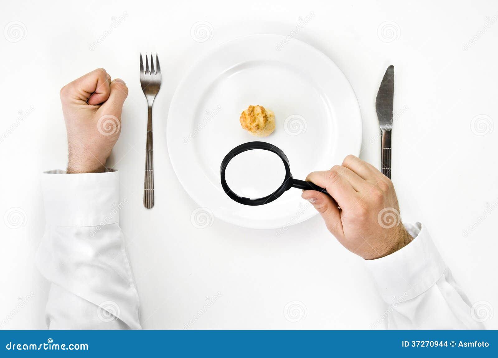 Honger en dieetconcept.