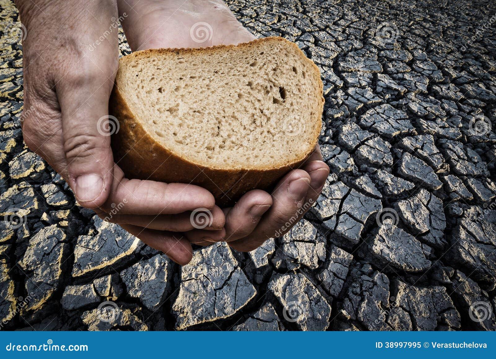 Honger - het brood van de oude handholding