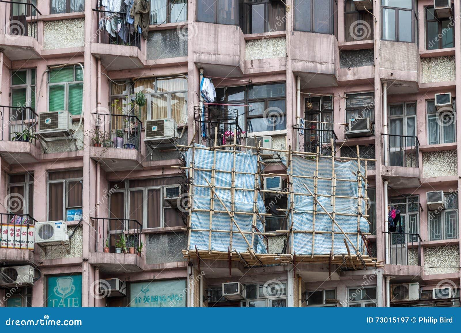 HONGKONG, CHINA/ASIA - 29 FEBRUARI: Flatblok in Hongkong