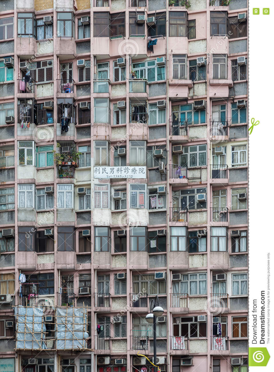 HONGKONG, CHINA/ASIA - FEBRUARY 29 : Apartment block in Hongkong China on February 29, 2012