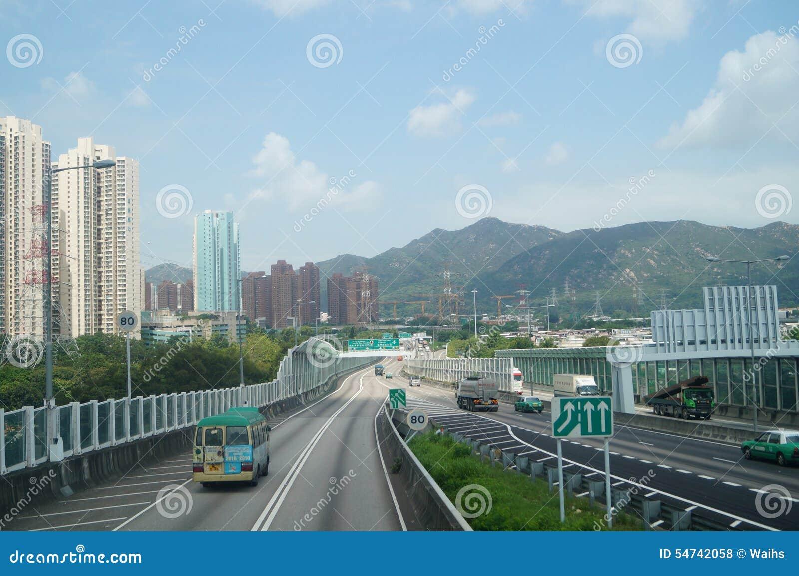 Hongkong, Chiny: Drogowy ruch drogowy
