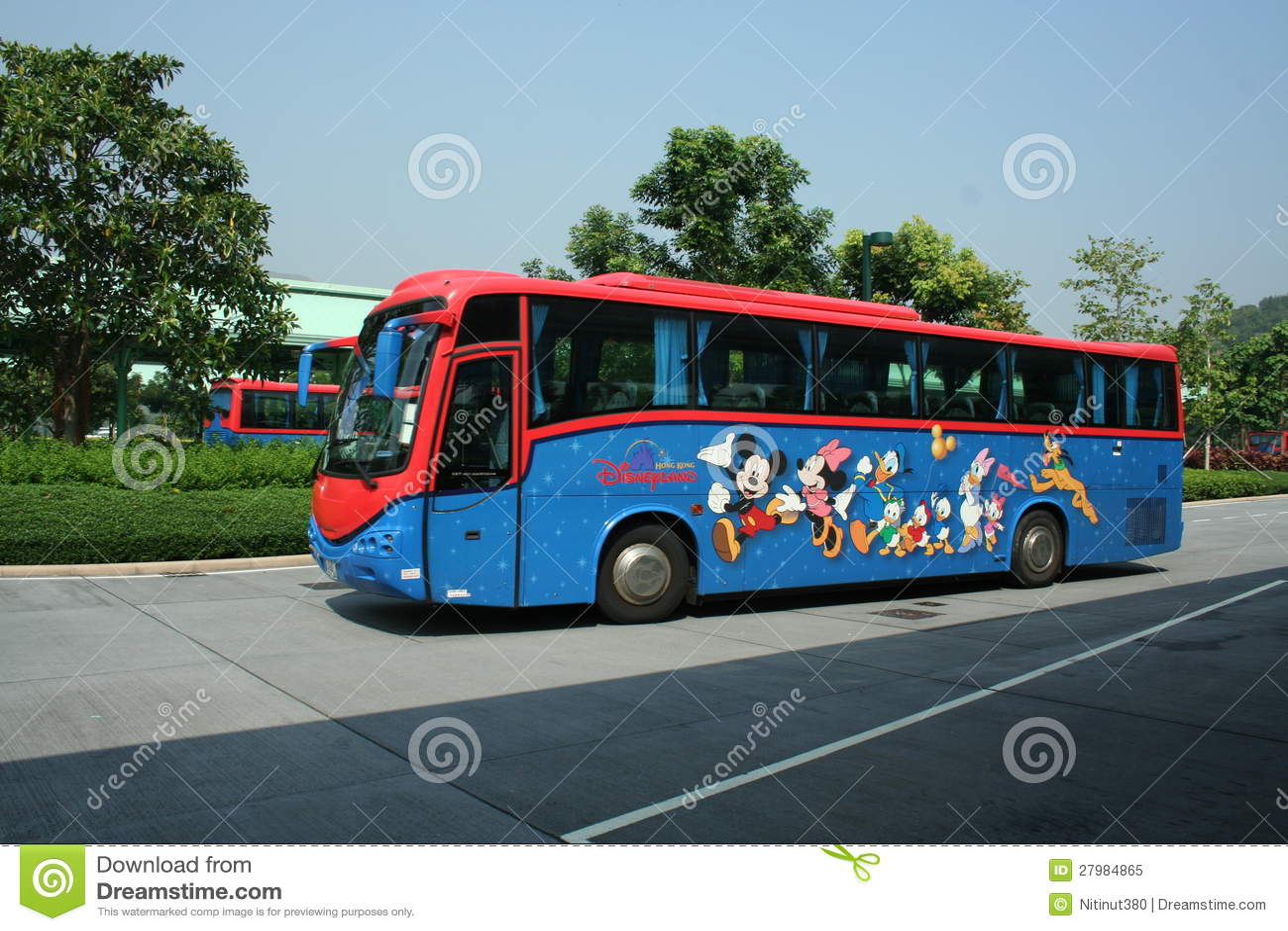 hongkong disneyland shuttle bus editorial image image 27984865. Black Bedroom Furniture Sets. Home Design Ideas